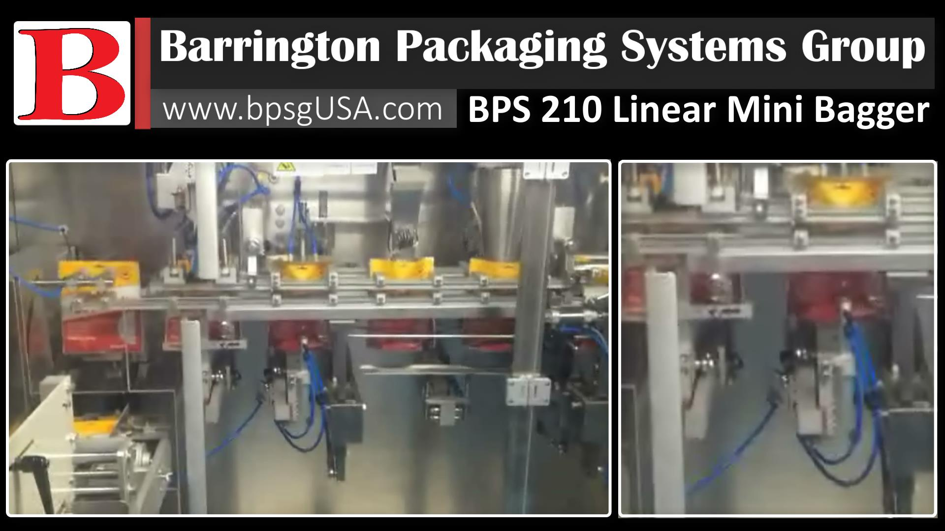 The BPS Mini Bagger 210L is a Small Footprint Large Output Linear Mini Bagger Packaging Equipment System and is the economical way to automate Scaling Filling and Sealing for your Preformed Bagsand Stand-up Pouches.
