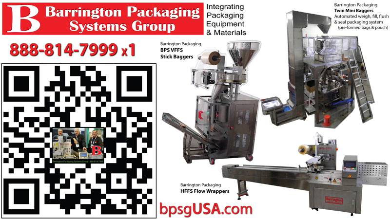 HFFS Horizontal Flow Wrapper Systems  Barrington Packaging Systems Group