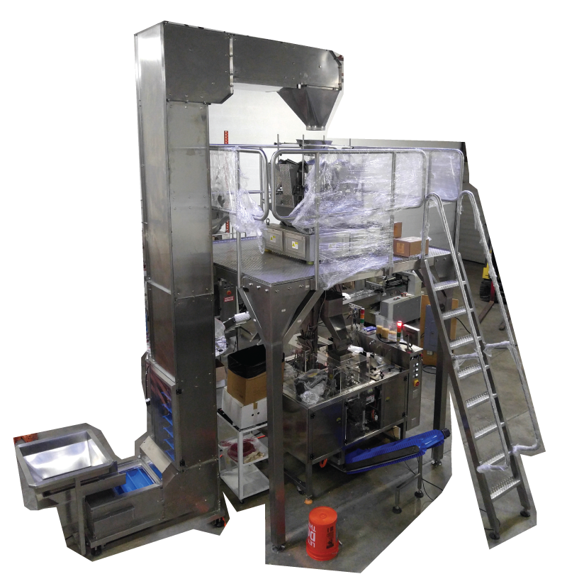 Twin Mini Bagger System Filling and sealing  Preformed Bags Duplex Mini Baggers Vertical Fill, Multihead Combination Scale Packaging Systems